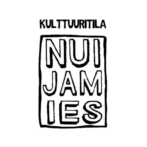 NUI-JAM-IES musta - Miesten premium t-paita