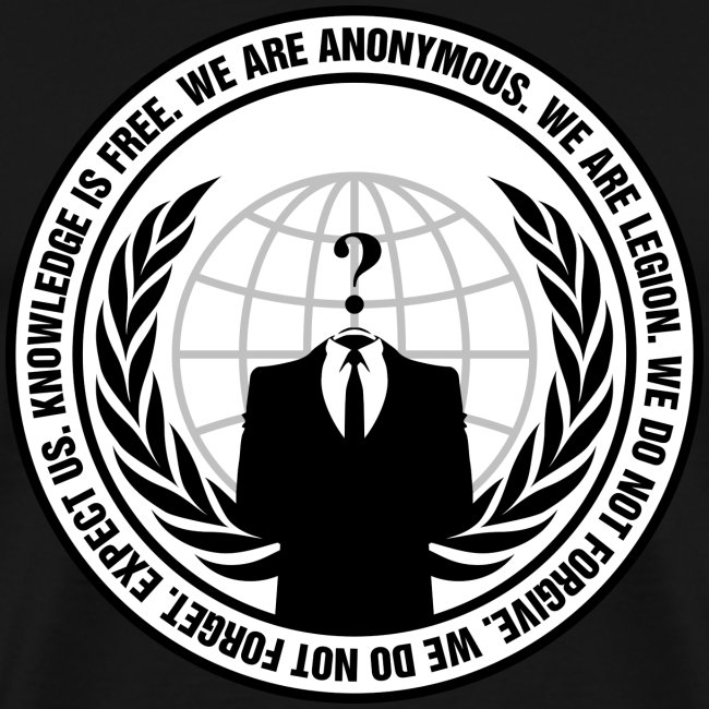 Anonymous Logo With Sloga