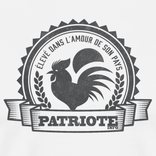 Coq patriote info style 10 - T-shirt Premium Homme