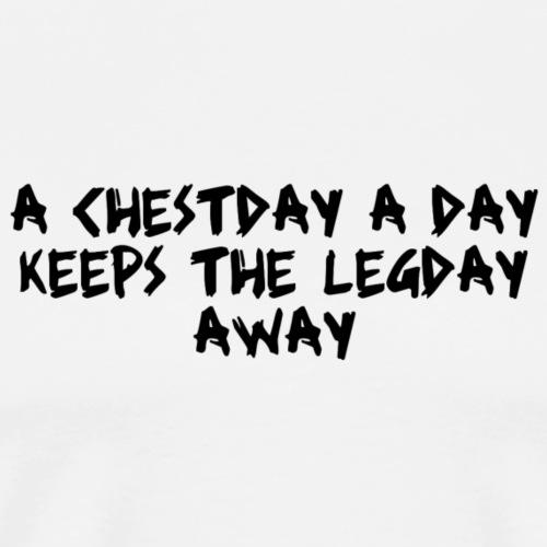 Quotees UF - Chestday - Premium-T-shirt herr
