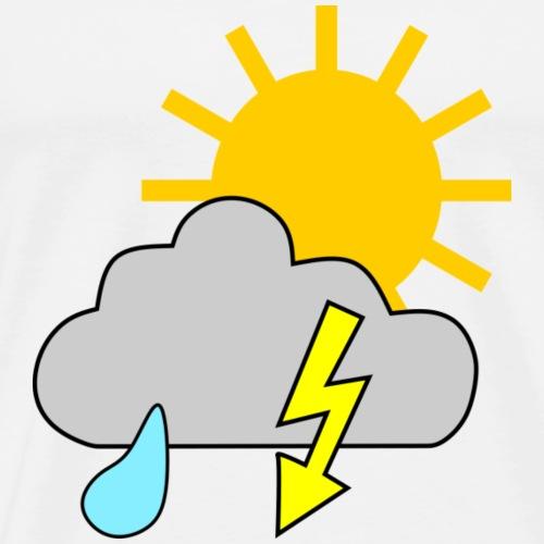 Sun - rain - thunderstorm - Men's Premium T-Shirt