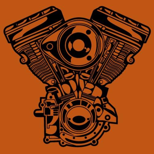 Motorrad Motor / Engine 01_schwarz - Männer Premium T-Shirt