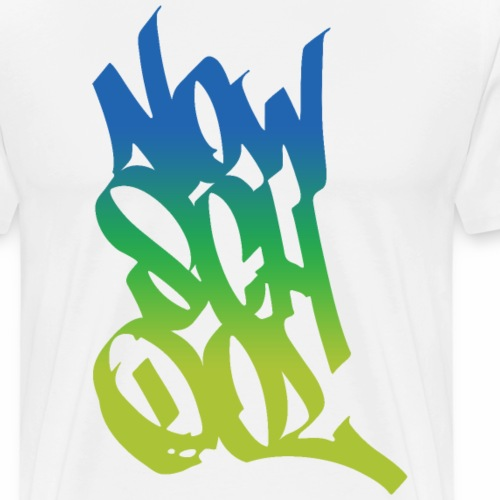 NowSchOol Marker Design (Colors) - Men's Premium T-Shirt