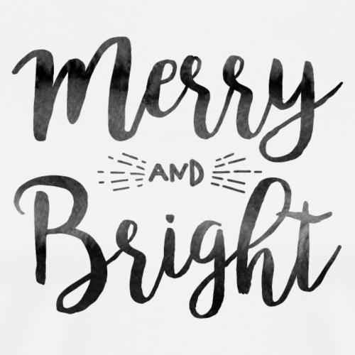merry bright watercolor - Männer Premium T-Shirt