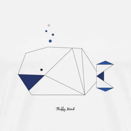 Baleine origami - T-shirt Premium Homme
