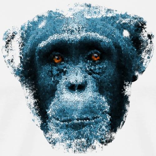 monkeyface blue - Herre premium T-shirt