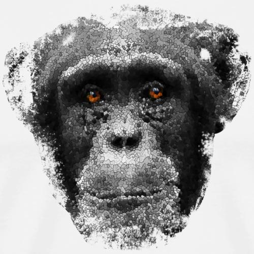 monkeyface gray - Herre premium T-shirt