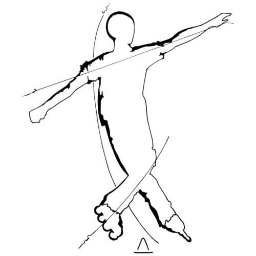 street roller slalom - T-shirt Premium Homme