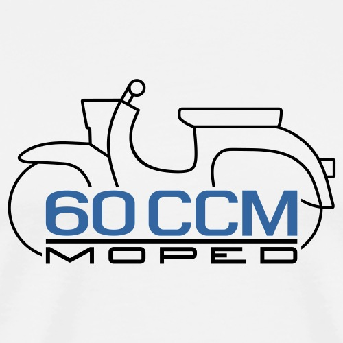Moped Schwalbe 60 ccm Emblem - Men's Premium T-Shirt