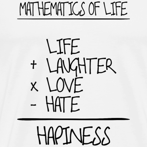 Mathematics of life - Männer Premium T-Shirt