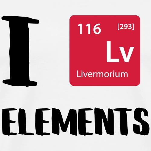 I love Elements - Männer Premium T-Shirt