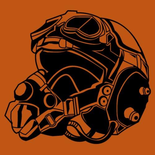 Pilotenhelm / Pilot Helmet 01_schwarz - Männer Premium T-Shirt