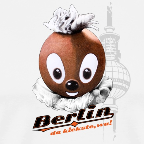 Pittiplatsch 3D Berlin auf hell - Männer Premium T-Shirt
