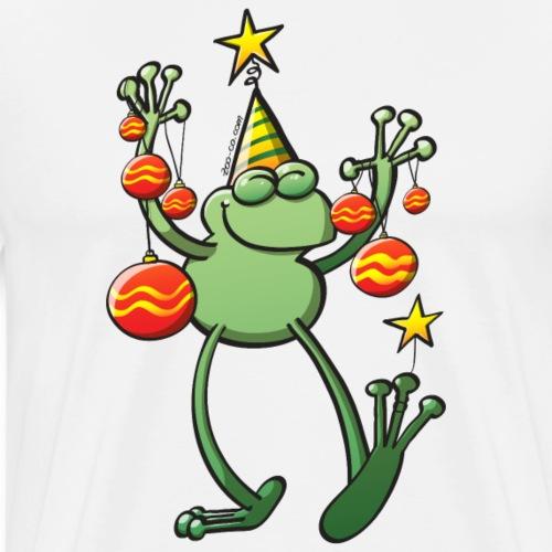 Christmas Decorations for a Frog - Men's Premium T-Shirt