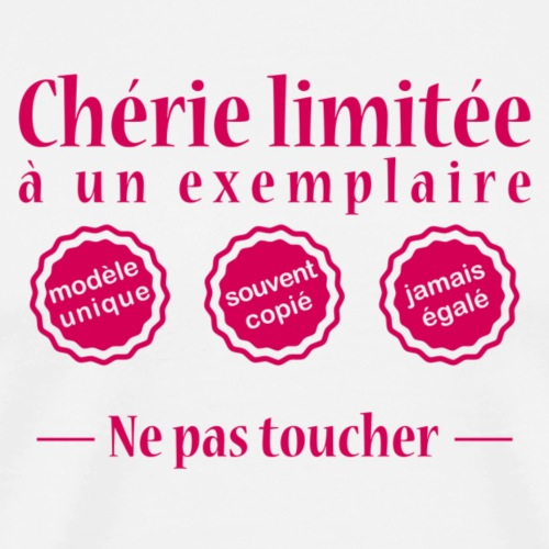 Chérie limitée.png - T-shirt Premium Homme