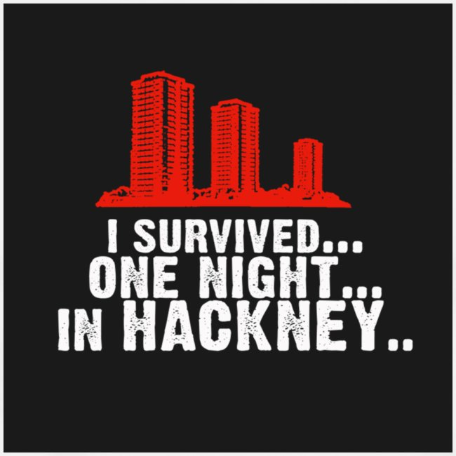 i survived one night in hackney badge