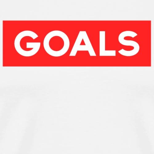 GOALS SQUARE BOX - Men's Premium T-Shirt