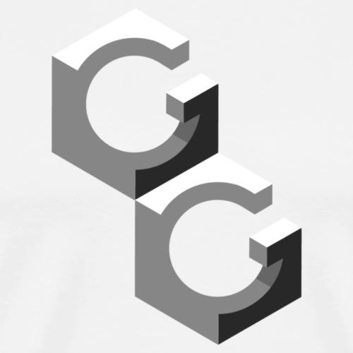 GG logo zwart wit - Mannen Premium T-shirt