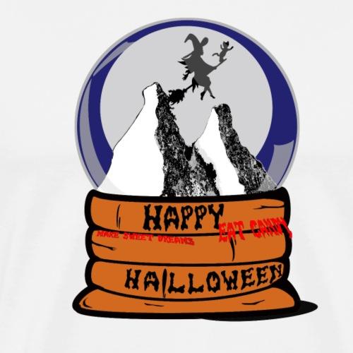Serie Boule à neige : Halloween et la sorcière - T-shirt Premium Homme