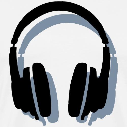 Kopfhörer mit Schatten - Männer Premium T-Shirt