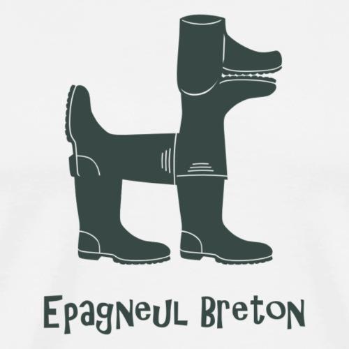 Epagneul breton vert - T-shirt Premium Homme