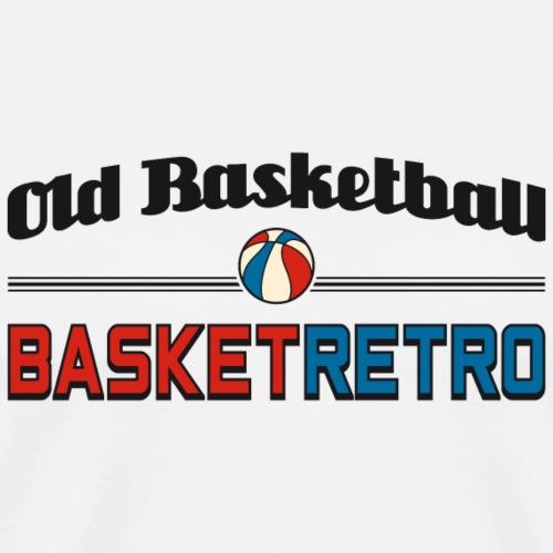 Old basketball fond clair - T-shirt Premium Homme