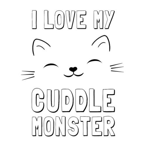 I love my cuddle monster cat - Männer Premium T-Shirt