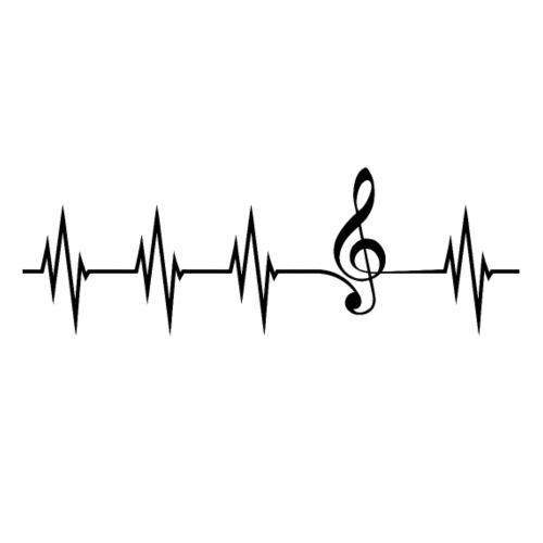 Musikliebe, Herzlinie, Violinschlüssel - Männer Premium T-Shirt