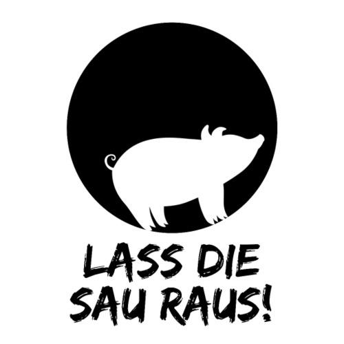 Lass die Sau raus! Veganismus, Tierschutz, Party - Männer Premium T-Shirt