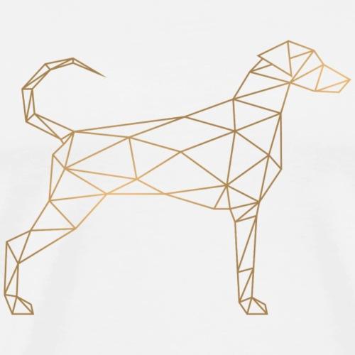 Geometric Doberman - Geometrischer Dobermann gold