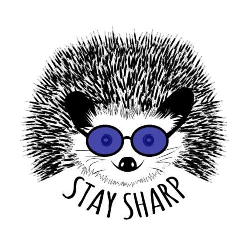 Cooler Igel sagt: Stay sharp! - Männer Premium T-Shirt