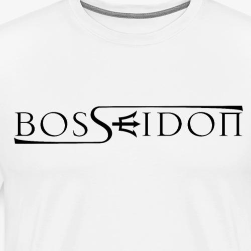 Bosseidon Logo Schwarz - Männer Premium T-Shirt