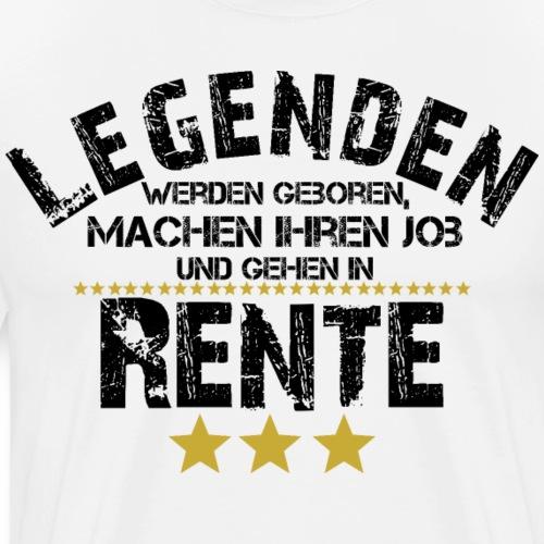 Legende Pension Rente Rentner Ruhestand Geschenk - Männer Premium T-Shirt