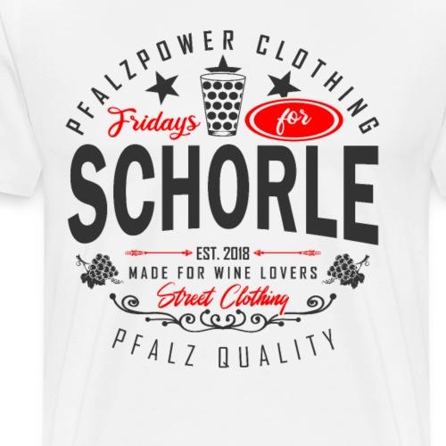 Fridays for Schorle Pfälzer Dubbeglas Parodie - Männer Premium T-Shirt