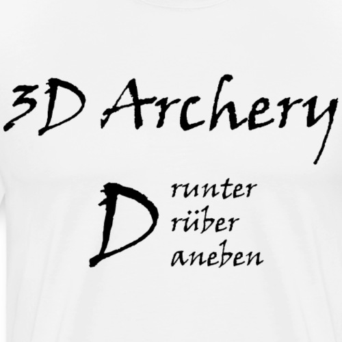 3D Archery black