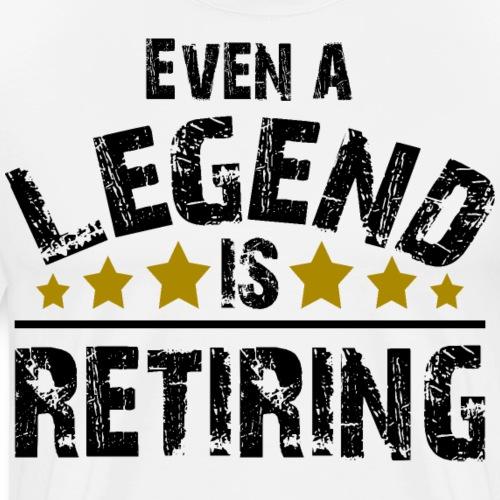 Legend Rente Pension Ruhestand Pensionist Geschenk - Männer Premium T-Shirt