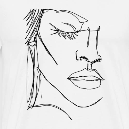 Half face - Männer Premium T-Shirt