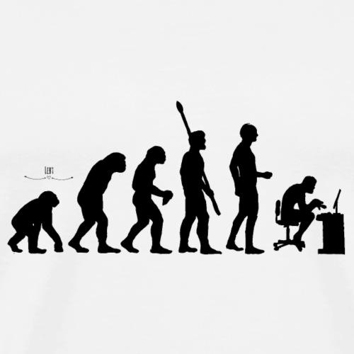Evolution Nerd - Männer Premium T-Shirt