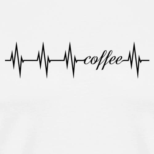 coffee Herzlinie - mein Herz schlägt für Kaffee - Männer Premium T-Shirt