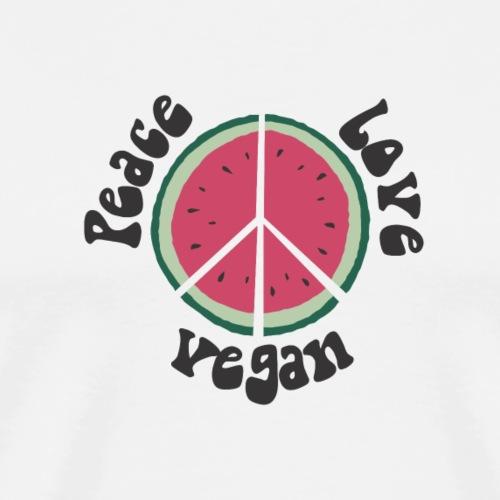 peace love vegan wassermelone - Männer Premium T-Shirt