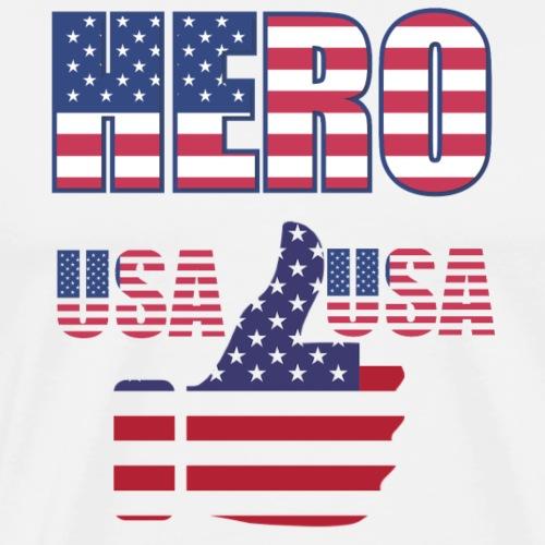 Hero USA - Männer Premium T-Shirt