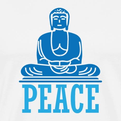 Buddha Meditating. - Men's Premium T-Shirt