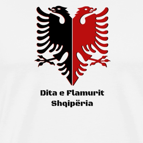 Albanian Eagle Albanien Flagge  Dita e Flamurit  - Männer Premium T-Shirt