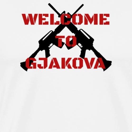 Albanien Kosovo Welcome To Gjakova - Männer Premium T-Shirt