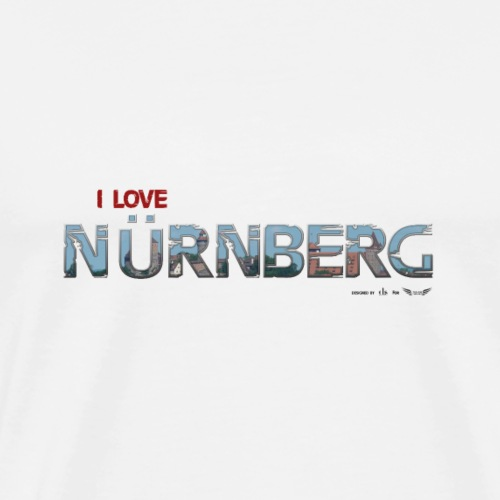 Nuernberg Schrift DH LOVE - Männer Premium T-Shirt