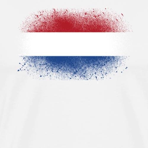 Holland Grunge Flagge Niederlande lustig Geschenk - Männer Premium T-Shirt