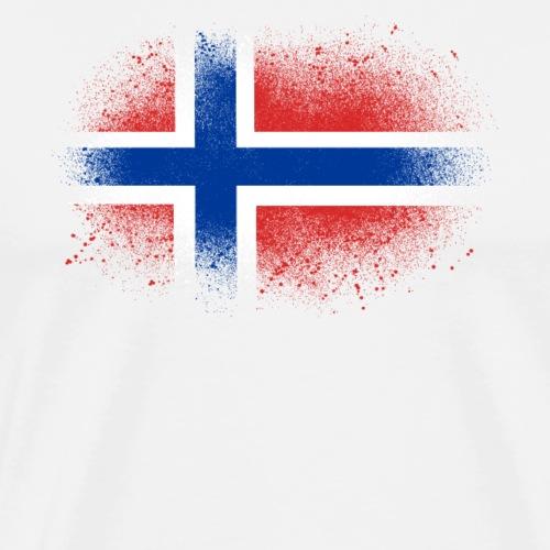 Norwegen Grunge norwegische Flagge lustig Geschenk - T-shirt Premium Homme