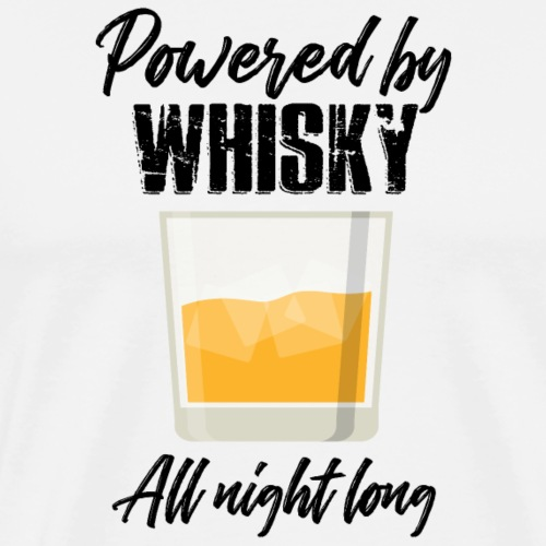 Powered By Whiskey - Men's Premium T-Shirt