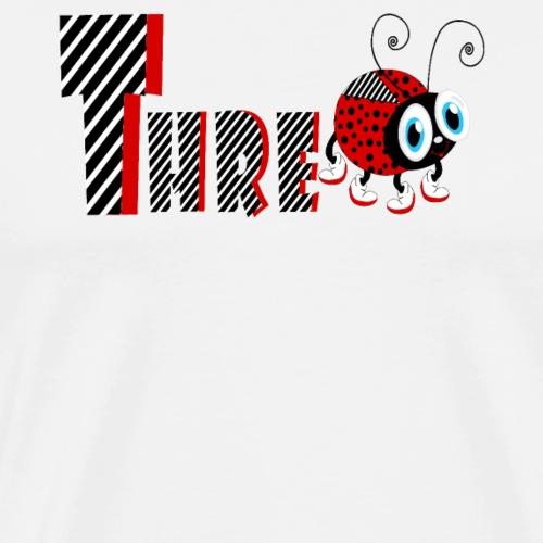 3. Jahr-Familien-Marienkäfer-T-Shirts Geschenk-Tochter - Männer Premium T-Shirt