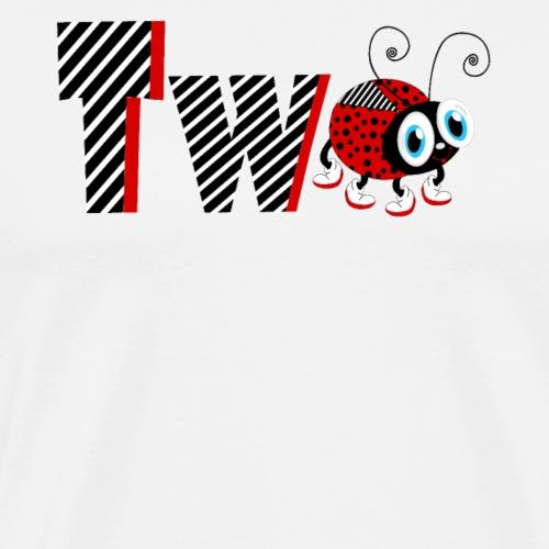 T-shirt da regalo per 2 anni della famiglia Coccinella - Maglietta Premium da uomo